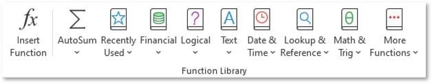 Funções do Excel agrupadas por categorias